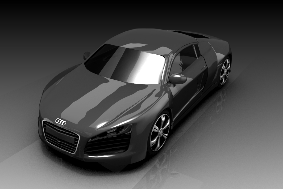 Free download: Blender 3D model of Audi R8 - Blog