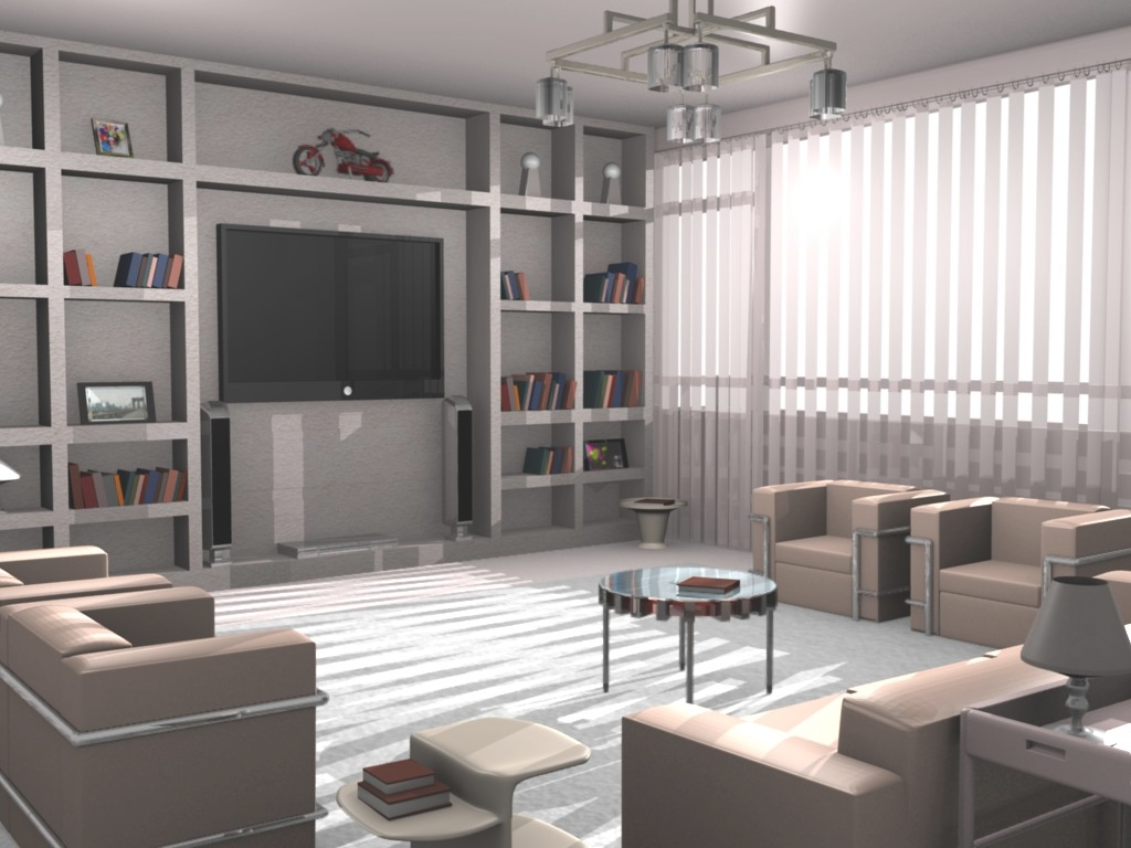 Free download interior scenes completely done with for Room modeling software